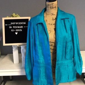 Woman's Chico's Teal Jacket Size 3